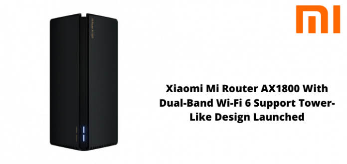 Xiaomi Mi Router AX1800 With Dual-Band Wi-Fi 6 Support Tower-Like